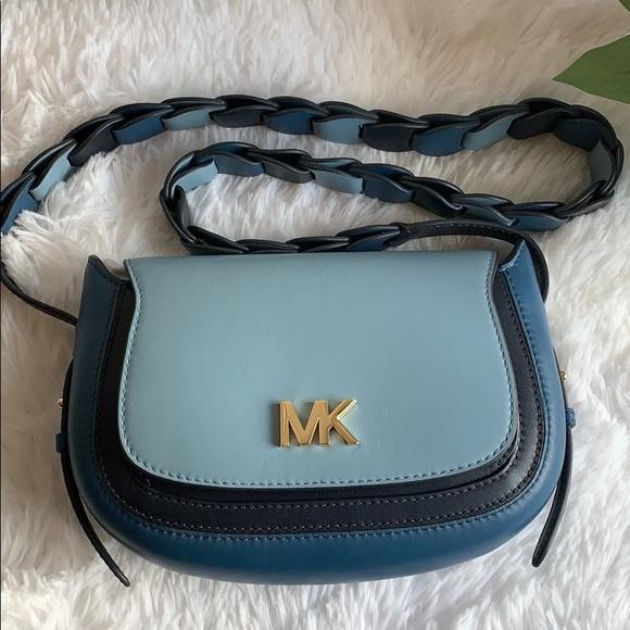 NWT Michael Kors small leather saddle bag